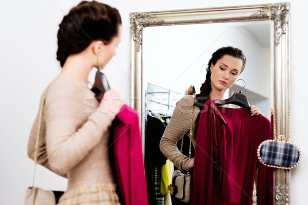 одежды выставочный зал женщину торговых Сток-фото © Nejron