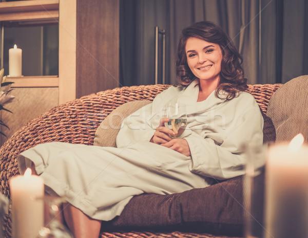 美人 リラックス バスローブ スパ サロン ボディ ストックフォト © Nejron