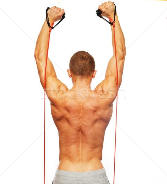 Bel homme corps musclé fitness exercice santé gymnase Photo stock © Nejron