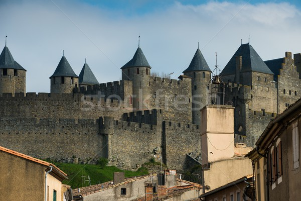 Medieval Carcassone town view, France Stock photo © Nejron