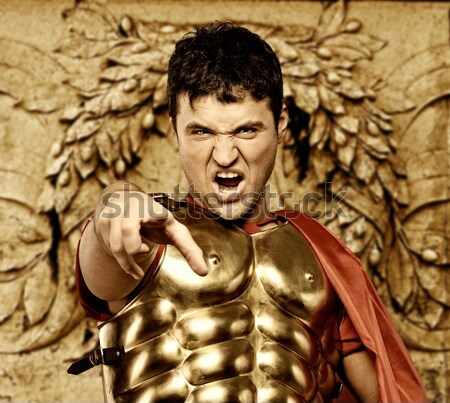 Roman legionary soldier in front of ancient building Stock photo © Nejron