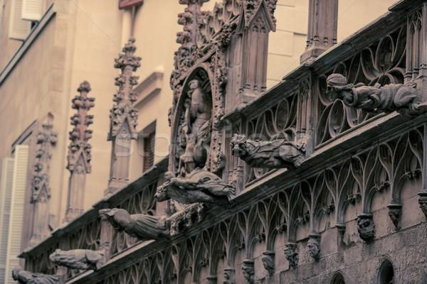 Facade details of old building Stock photo © Nejron