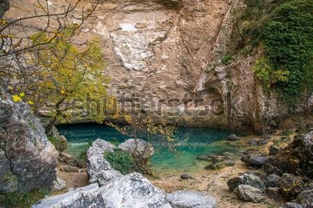 Bron Frankrijk water rock bergen steen Stockfoto © Nejron