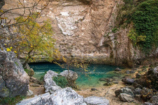 Stock photo: Source in Fontaine-de-Vaucluse, France