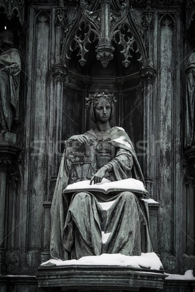 Antique statue with book Stock photo © Nejron