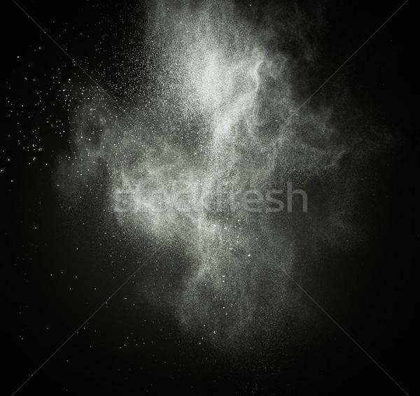 Beyaz toz yalıtılmış siyah beyaz siyah soyut Stok fotoğraf © Nejron