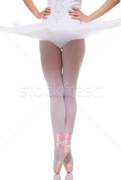 Ballet dancer on pointe Stock photo © Nejron