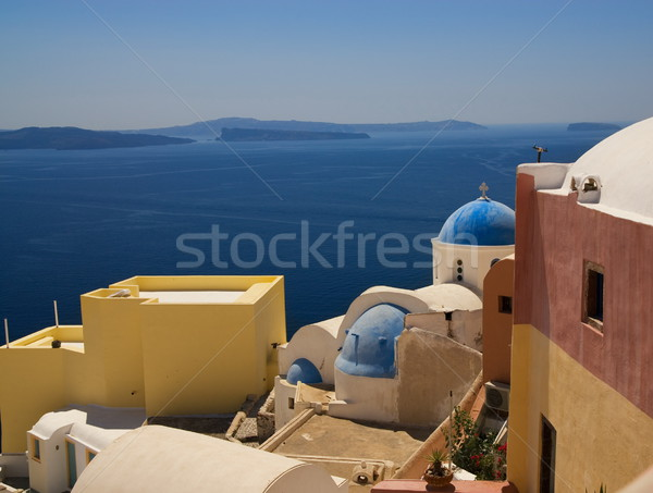 Belo ver santorini ilha Grécia praia Foto stock © Nejron