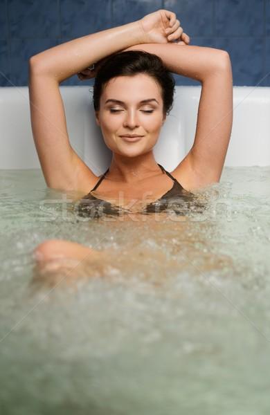 Donna vasca da bagno corpo salute bellezza Foto d'archivio © Nejron