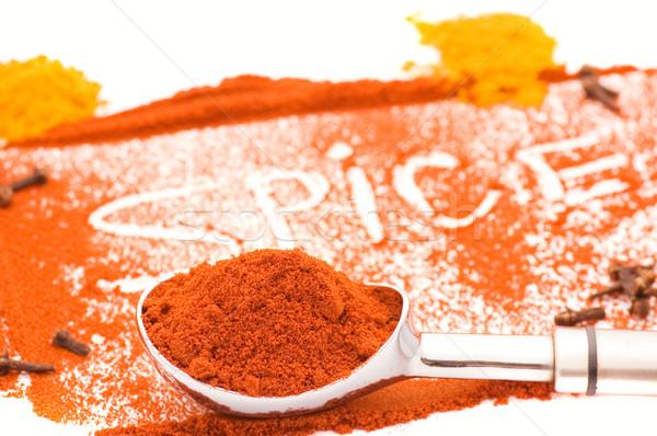 Spice alimentare sfondo cucina colore bianco Foto d'archivio © Nejron
