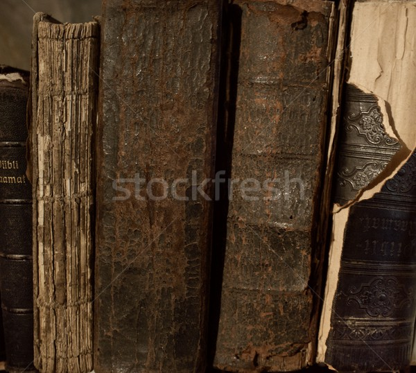 Klasszikus könyvek csetepaté olvas tanulás könyvtár Stock fotó © Nejron