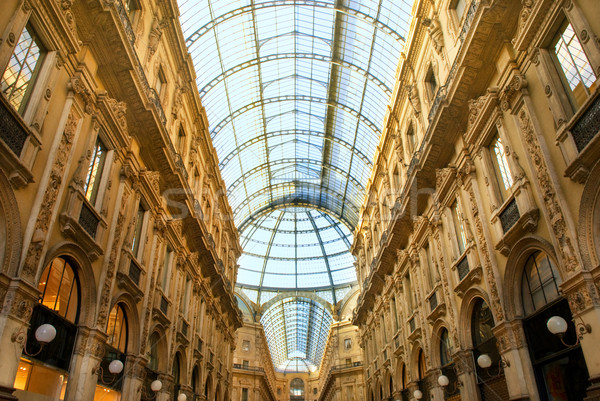 Famous shopping center Vittorio Emanuele II Shopping Gallery (Mi Stock photo © Nejron