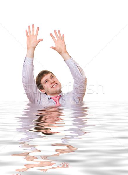 Louco homem de negócios prestados água negócio empresário Foto stock © Nejron