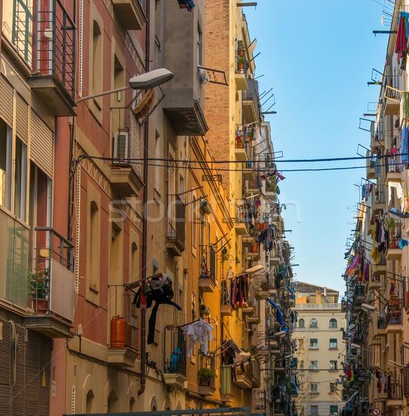 Piękna ulic sąsiedztwo Barcelona miasta ulicy Zdjęcia stock © Nejron