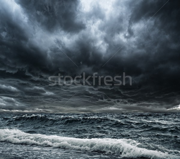 Big ocean wave breaking the shore Stock photo © Nejron