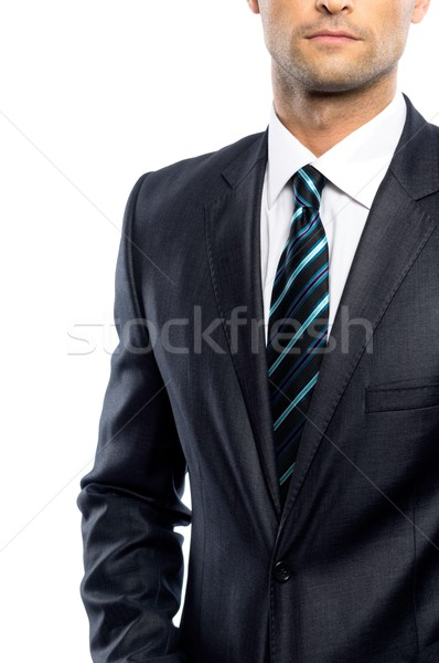 Well-dressed man in black suit and tie  Stock photo © Nejron
