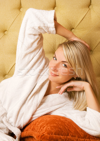 Beautiful young woman relaxing in the morning Stock photo © Nejron