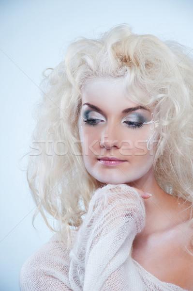 Düşünme kar kraliçe kadın kız güzellik Stok fotoğraf © Nejron