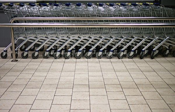 Empty shopping trolleys in a market Stock photo © Nejron