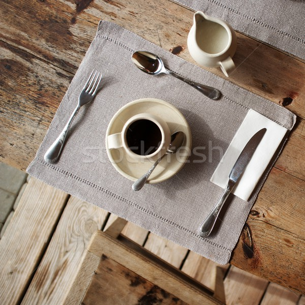 Table setting in cafe. Stock photo © Nejron