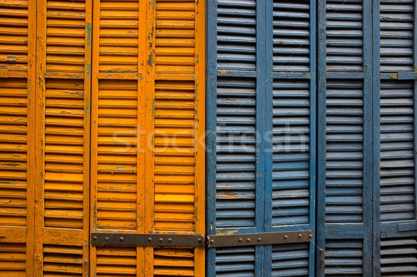 Close-up of wooden shutters Stock photo © Nejron