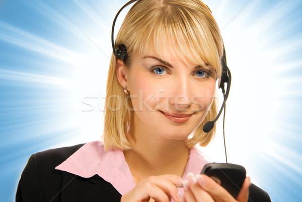 Güzel hattı operatör cep telefonu eller soyut Stok fotoğraf © Nejron