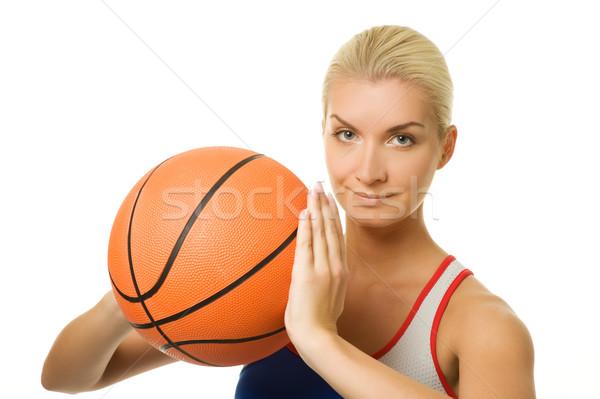 Portrait of a basketball player  Stock photo © Nejron