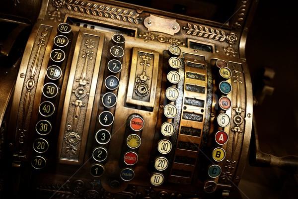 Vintage caixa registradora compras mercado antigo números Foto stock © Nejron