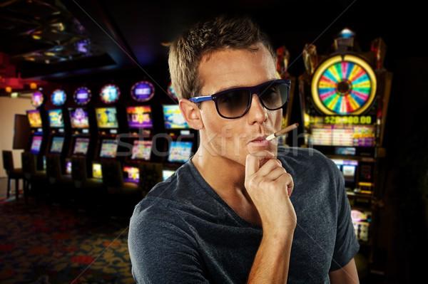 Elegante hombre casino moda jóvenes blanco Foto stock © Nejron