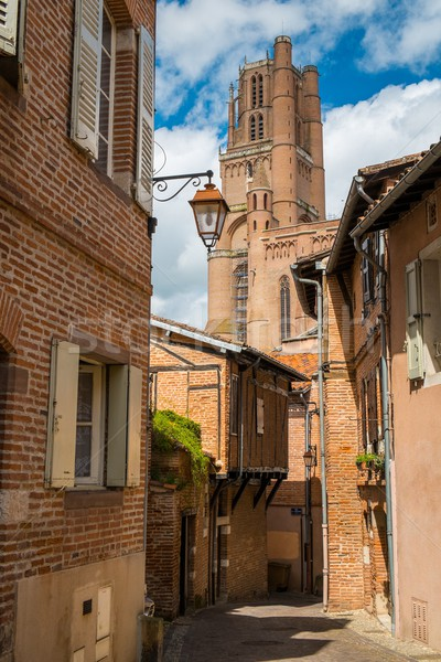 Narrow streets leading to Albi Cathedral, France  Stock photo © Nejron