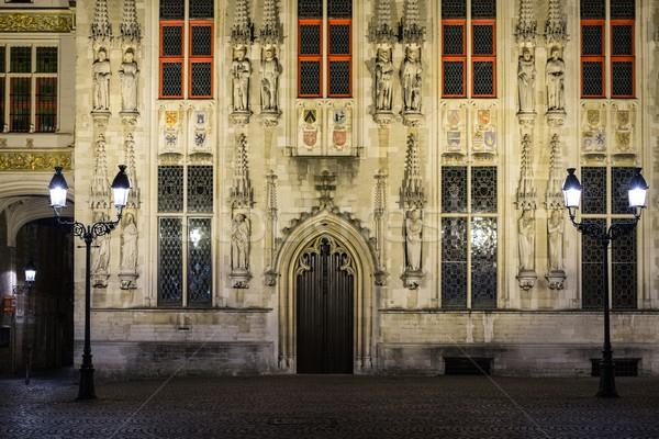 House details on Burg square in Bruges, Belgium  Stock photo © Nejron