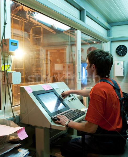 Factory operator at work Stock photo © Nejron