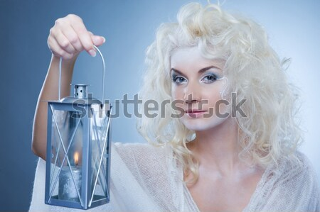 Snow queen with a latern Stock photo © Nejron