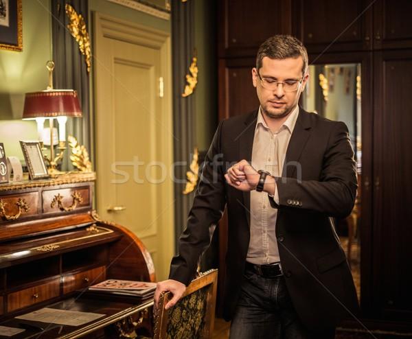 Homme regarder luxe vintage Photo stock © Nejron