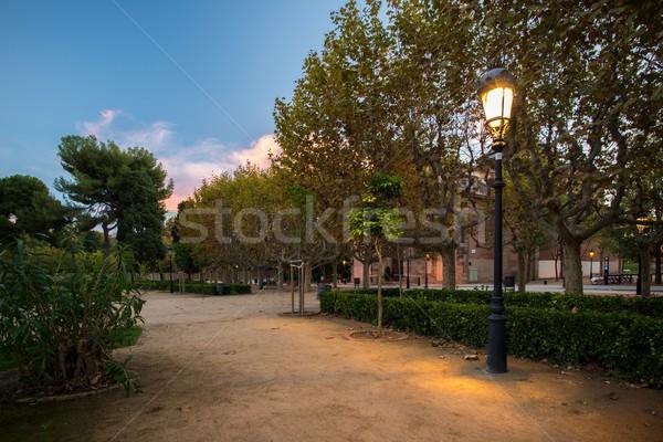 Beautiful park in Barcelona, Spain Stock photo © Nejron