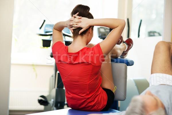 старший человека брюшной фитнес клуба Сток-фото © Nejron
