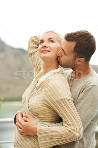 Beautiful couple expecting a baby Stock photo © Nejron