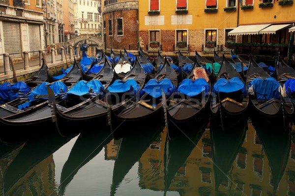 Picture of a many gondolas Stock photo © Nejron