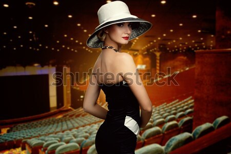 Woman in luxury club interior Stock photo © Nejron