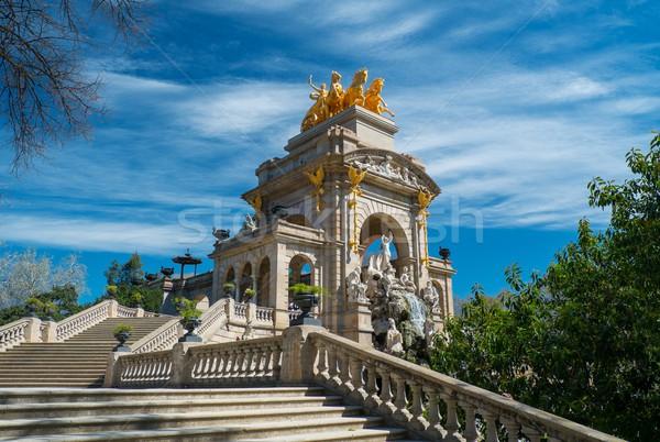 Stair of fountain in a Parc de la Ciutadella, Barcelona Stock photo © Nejron