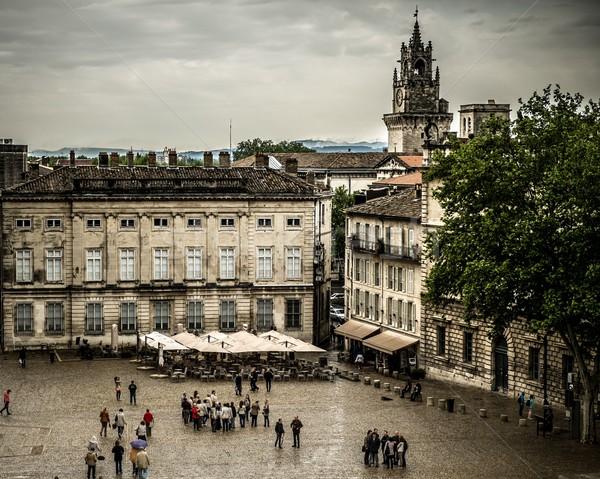 Square near Palais des Papes in Avignon, France Stock photo © Nejron