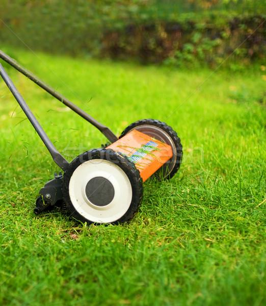 Lawnmower cutting grass Stock photo © Nejron