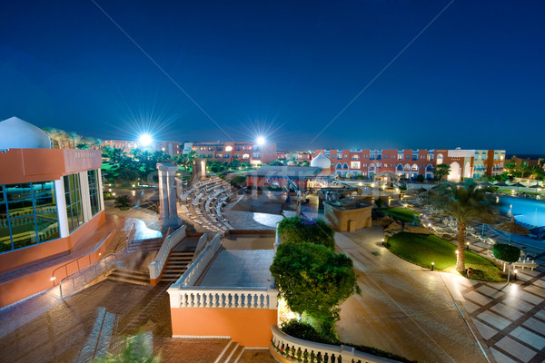 Luxury hotel territory at night Stock photo © Nejron