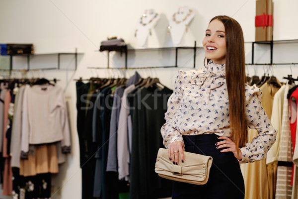 ファッショナブル 若い女性 ファッション ショールーム 女性 ショッピング ストックフォト © Nejron