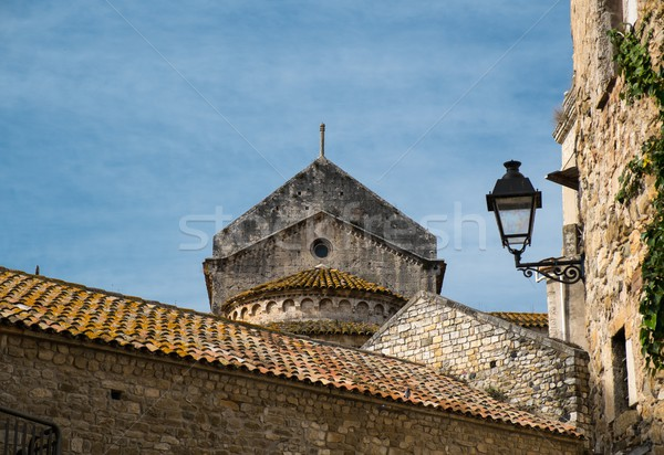 Tile rooftops in old town Stock photo © Nejron