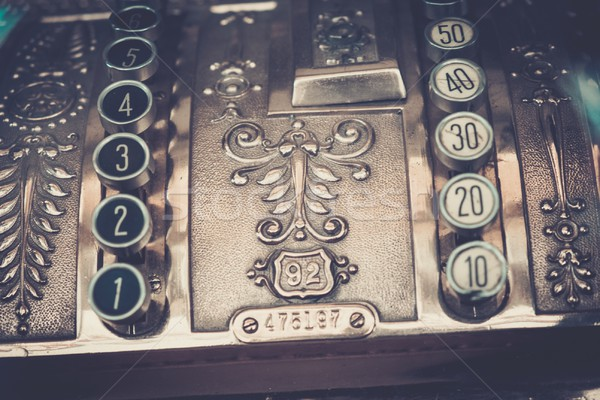 Vintage cash register close-up Stock photo © Nejron