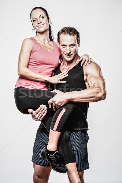 Pareja hermosa mujer deporte fitness Foto stock © Nejron