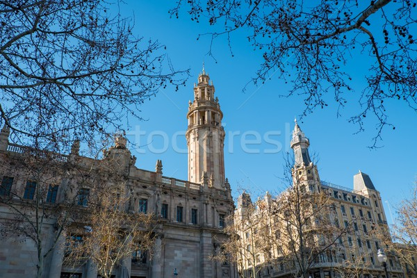 Postal and telegraph building in Barcelona, Spain Stock photo © Nejron