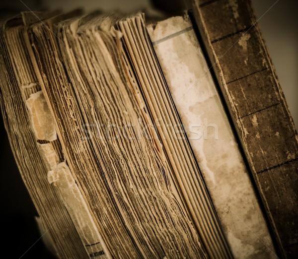 Vintage books in a row  Stock photo © Nejron