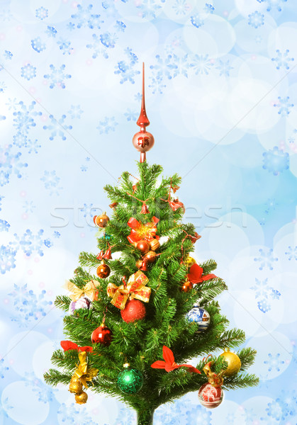 Christmas-tree over abstract background Stock photo © Nejron